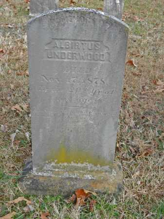UNDERWOOD, ALBIRTUS - Baltimore County, Maryland | ALBIRTUS UNDERWOOD - Maryland Gravestone Photos