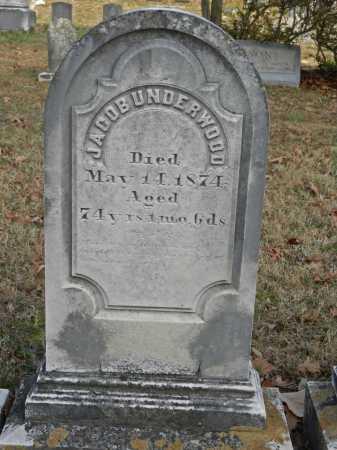 UNDERWOOD, JACOB - Baltimore County, Maryland   JACOB UNDERWOOD - Maryland Gravestone Photos