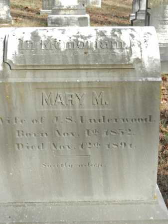 UNDERWOOD, MARY M - Baltimore County, Maryland | MARY M UNDERWOOD - Maryland Gravestone Photos
