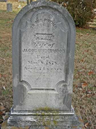 UNDERWOOD, MARY - Baltimore County, Maryland | MARY UNDERWOOD - Maryland Gravestone Photos