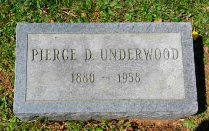 UNDERWOOD, PIERCE D. - Baltimore County, Maryland | PIERCE D. UNDERWOOD - Maryland Gravestone Photos