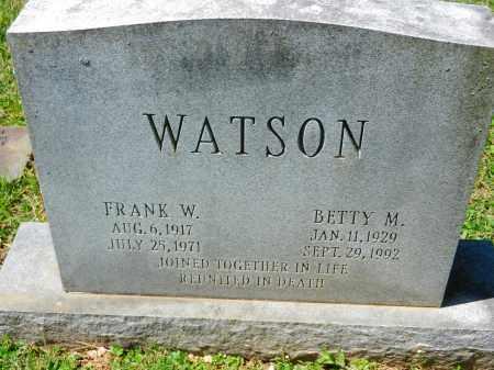 WATSON, FRANK W. - Baltimore County, Maryland   FRANK W. WATSON - Maryland Gravestone Photos