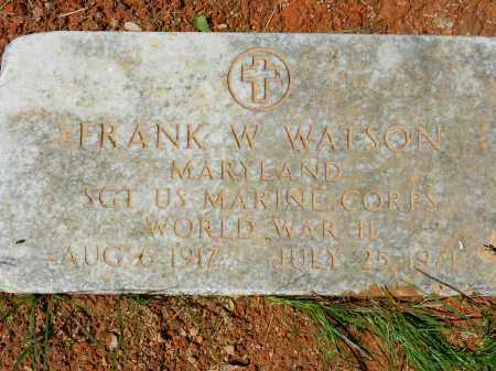 WATSON, FRANK W. - Baltimore County, Maryland | FRANK W. WATSON - Maryland Gravestone Photos