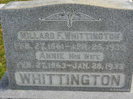 WHITTINGTON, MILLARD F. - Baltimore County, Maryland | MILLARD F. WHITTINGTON - Maryland Gravestone Photos