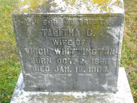 WHITTINGTON, TALITHA C. - Baltimore County, Maryland | TALITHA C. WHITTINGTON - Maryland Gravestone Photos