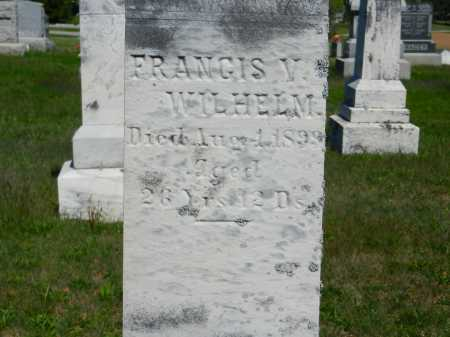 WILHELM, FRANCIS V. - Baltimore County, Maryland | FRANCIS V. WILHELM - Maryland Gravestone Photos
