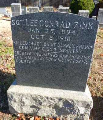 ZINK, SGT LEE CONRAD - Baltimore County, Maryland | SGT LEE CONRAD ZINK - Maryland Gravestone Photos