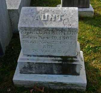 ATHERTON, RACHEL - Carroll County, Maryland   RACHEL ATHERTON - Maryland Gravestone Photos