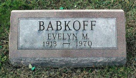 BABKOFF, EVELYN M. - Carroll County, Maryland | EVELYN M. BABKOFF - Maryland Gravestone Photos
