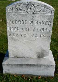 BAKER, GEORGE W. - Carroll County, Maryland | GEORGE W. BAKER - Maryland Gravestone Photos
