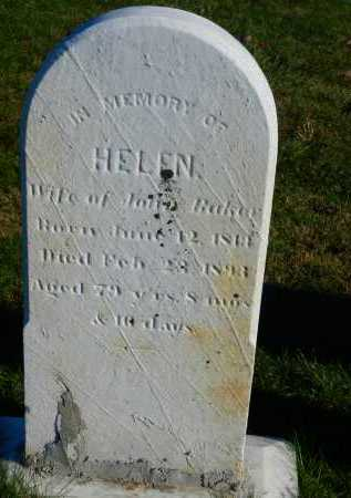 BAKER, HELEN - Carroll County, Maryland | HELEN BAKER - Maryland Gravestone Photos