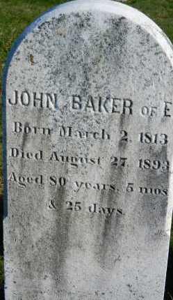 BAKER, JOHN - Carroll County, Maryland | JOHN BAKER - Maryland Gravestone Photos