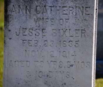 BIXLER, ANN CATHERINE - Carroll County, Maryland | ANN CATHERINE BIXLER - Maryland Gravestone Photos