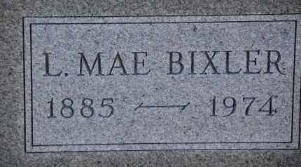 BIXLER, L. MAE - Carroll County, Maryland | L. MAE BIXLER - Maryland Gravestone Photos