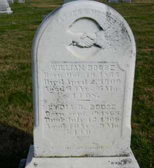 BOOSE, WILLIAM - Carroll County, Maryland | WILLIAM BOOSE - Maryland Gravestone Photos