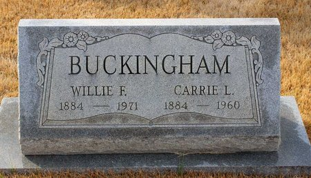 BUCKINGHAM, WILLIE F. - Carroll County, Maryland   WILLIE F. BUCKINGHAM - Maryland Gravestone Photos