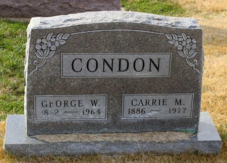 CONDON, CARRIE M. - Carroll County, Maryland | CARRIE M. CONDON - Maryland Gravestone Photos
