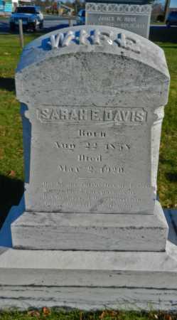 DAVIS, SARAH E - Carroll County, Maryland | SARAH E DAVIS - Maryland Gravestone Photos