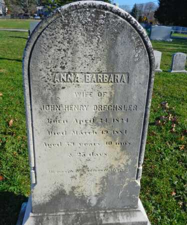 DRECHSLER, ANNA BARBARA - Carroll County, Maryland | ANNA BARBARA DRECHSLER - Maryland Gravestone Photos