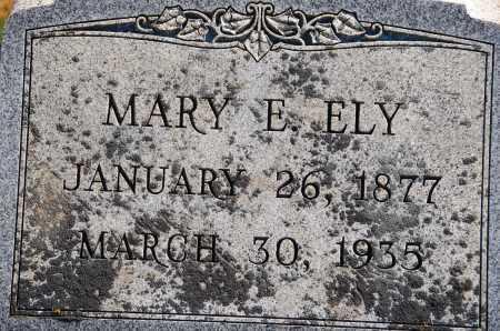 ELY, MARY E. - Carroll County, Maryland | MARY E. ELY - Maryland Gravestone Photos