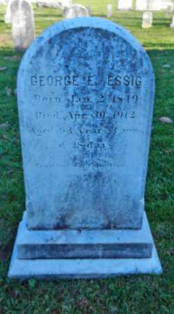 ESSIG, GEORGE E. - Carroll County, Maryland | GEORGE E. ESSIG - Maryland Gravestone Photos