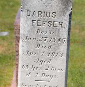 FEESER, DARIUS - Carroll County, Maryland | DARIUS FEESER - Maryland Gravestone Photos