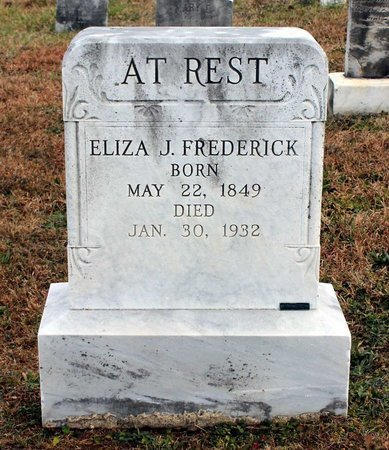 FREDERICK, ELIZA J. - Carroll County, Maryland | ELIZA J. FREDERICK - Maryland Gravestone Photos