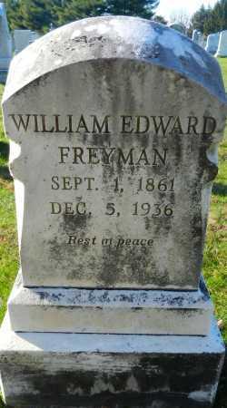 FREYMAN, WILLIAM EDWARD - Carroll County, Maryland | WILLIAM EDWARD FREYMAN - Maryland Gravestone Photos