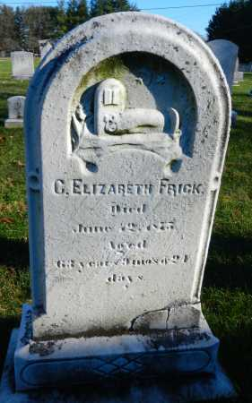 FRICK, C. ELIZABETH - Carroll County, Maryland | C. ELIZABETH FRICK - Maryland Gravestone Photos