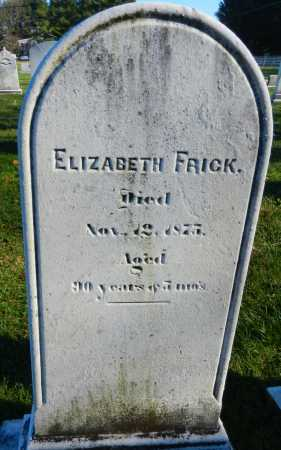 FRICK, ELIZABETH - Carroll County, Maryland | ELIZABETH FRICK - Maryland Gravestone Photos