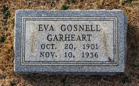 GOSNELL GARHEART, EVA - Carroll County, Maryland | EVA GOSNELL GARHEART - Maryland Gravestone Photos