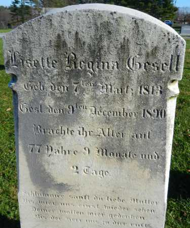 GESELL, LISETTE REGINA - Carroll County, Maryland | LISETTE REGINA GESELL - Maryland Gravestone Photos