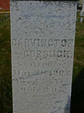 GORSUCH, CARVINGTON - Carroll County, Maryland | CARVINGTON GORSUCH - Maryland Gravestone Photos