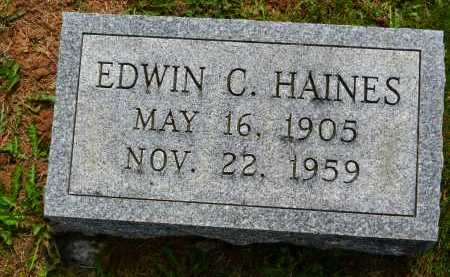 HAINES, EDWIN C. - Carroll County, Maryland | EDWIN C. HAINES - Maryland Gravestone Photos