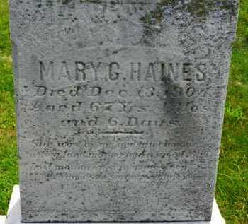 HAINES, MARY G. - Carroll County, Maryland | MARY G. HAINES - Maryland Gravestone Photos