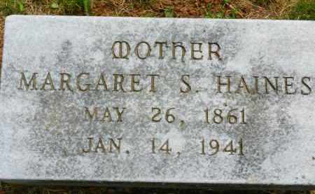 HAINES, MARGARET S. - Carroll County, Maryland | MARGARET S. HAINES - Maryland Gravestone Photos