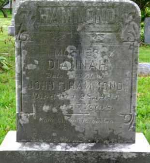 HAMMOND, DINNAH - Carroll County, Maryland   DINNAH HAMMOND - Maryland Gravestone Photos