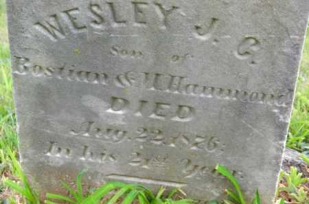 HAMMOND, WESLEY J. C. - Carroll County, Maryland   WESLEY J. C. HAMMOND - Maryland Gravestone Photos