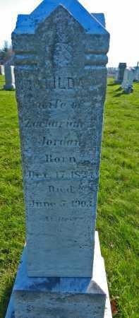 JORDAN, MATILDA A - Carroll County, Maryland   MATILDA A JORDAN - Maryland Gravestone Photos