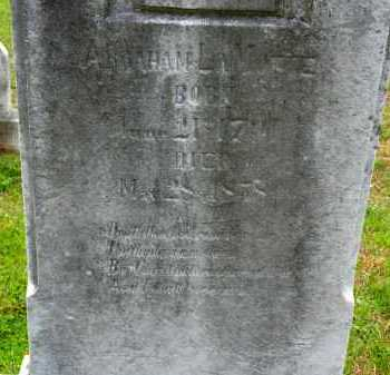 LAMOTTE, ABRAHAM - Carroll County, Maryland | ABRAHAM LAMOTTE - Maryland Gravestone Photos