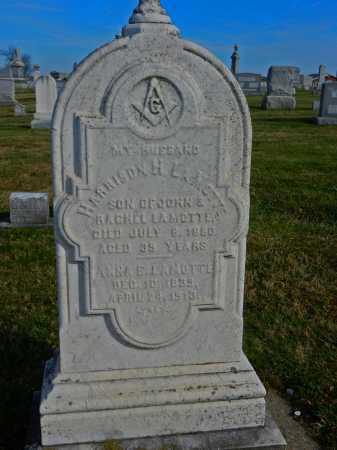 LAMOTTE, HARRISON H. - Carroll County, Maryland | HARRISON H. LAMOTTE - Maryland Gravestone Photos