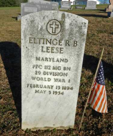LEESE, ELTINGE R. B. - Carroll County, Maryland   ELTINGE R. B. LEESE - Maryland Gravestone Photos