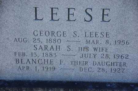 LEESE, SARAH S. - Carroll County, Maryland | SARAH S. LEESE - Maryland Gravestone Photos
