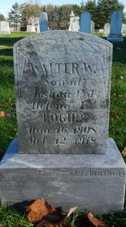 LOGUE, WALTER W. - Carroll County, Maryland | WALTER W. LOGUE - Maryland Gravestone Photos