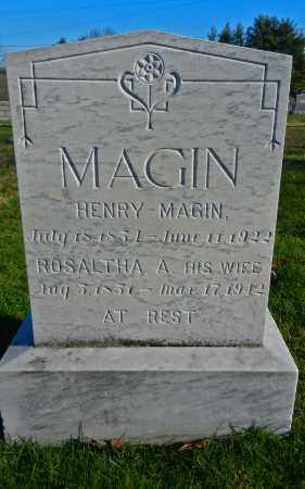 MAGIN, ROSALTHA A. - Carroll County, Maryland | ROSALTHA A. MAGIN - Maryland Gravestone Photos