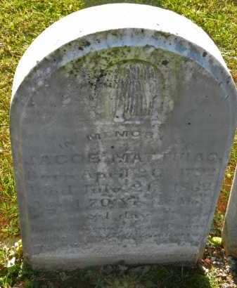 MATTHIAS, JACOB - Carroll County, Maryland | JACOB MATTHIAS - Maryland Gravestone Photos
