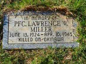 MILLER, PFC LAWRENCE W. - Carroll County, Maryland | PFC LAWRENCE W. MILLER - Maryland Gravestone Photos