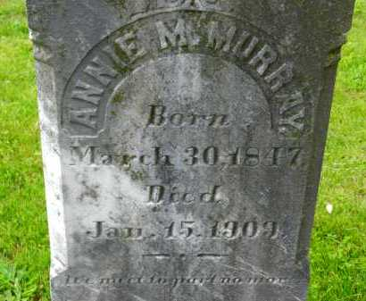 MURRAY, ANNIE M. - Carroll County, Maryland | ANNIE M. MURRAY - Maryland Gravestone Photos