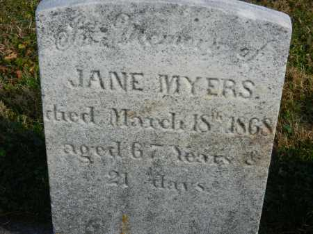 MYERS, JANE - Carroll County, Maryland | JANE MYERS - Maryland Gravestone Photos