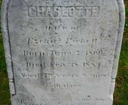PICKETT, CHARLOTTE - Carroll County, Maryland | CHARLOTTE PICKETT - Maryland Gravestone Photos